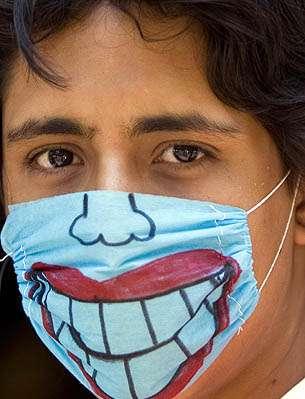 Brian Huddleston Designer Swine Flu Surgical Masks For Jazzfest